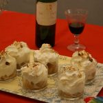 Compot de pommes et chantilly  la feve Tonka