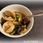 Soupe aux palourdes et aux moules