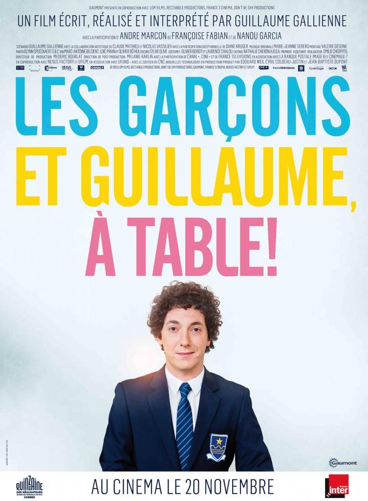 Les Garçons et Guillaume à table.