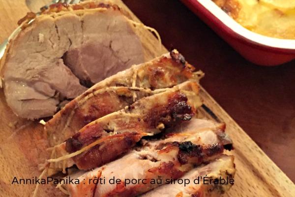 Rôti de porc et sirop d'Érable