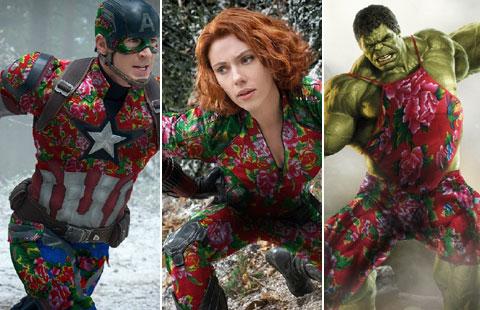 Les Avengers en Pivoines