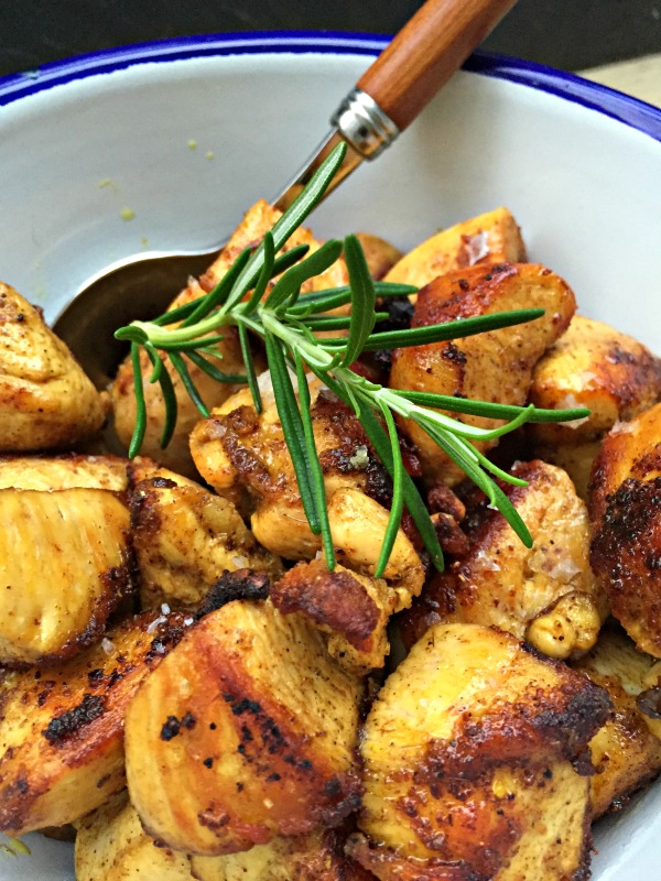 bouches de poulet ras el hanout