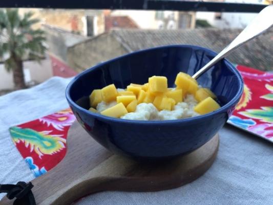 riz au lait et mangue